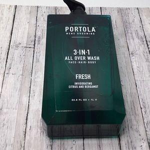 Portola Men's Grooming 3 in 1 All Over Wash Fresh